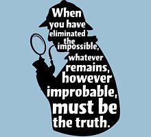 Sherlock Holmes Quote T Shirt Unisex T-Shirt