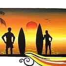 """Sunset"" Endless summer series by Taniakay"