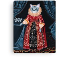 Lady Tabitha Silverly Elizabethan Cat Canvas Print