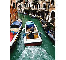 VENICE TAXI Photographic Print