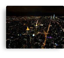 New York City by night... Canvas Print