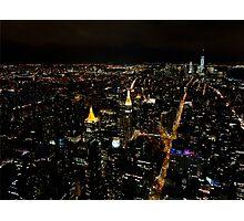 New York City by night... Photographic Print