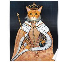 The Coronation - Elizabethan Cat Poster