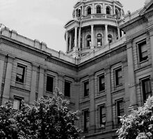 COLORADO STATE CAPITOL B&W by dragonindenver