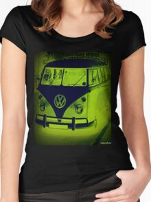 Split Screen VW Combi - New Products Women's Fitted Scoop T-Shirt