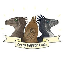 Crazy Raptor Lady Photographic Print