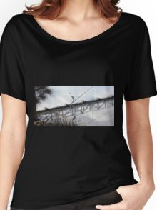 Bird on the Wire - Egret at Erskine River Women's Relaxed Fit T-Shirt