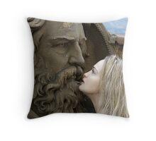 Jade With Greek God Throw Pillow