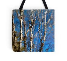 Aspen Tree Reflection Abstract Tote Bag