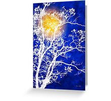 Blue Tree Art Greeting Card