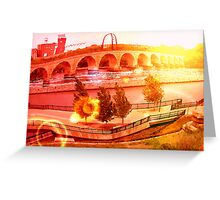 Stone Arch Sunset Greeting Card