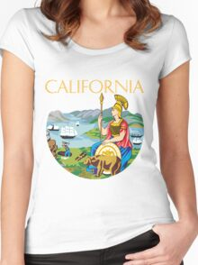 California seal Women's Fitted Scoop T-Shirt