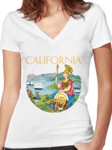 California seal Women's Fitted V-Neck T-Shirt