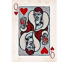 Mina Harker, Vampire Queen of Hearts Photographic Print