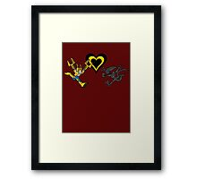 Power Loader Love Framed Print