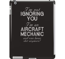 Humorous Aircraft Mechanic  iPad Case/Skin