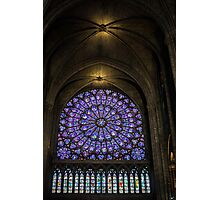 Inside The Notre Dame de Paris Photographic Print