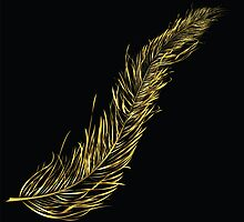Golden feather  by Richard Laschon