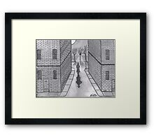 NIGHT WALKER Framed Print