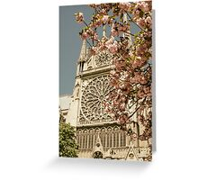 Notre Dame in Spring Greeting Card
