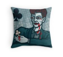 Vampire Jack of Clubs Throw Pillow