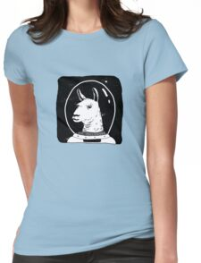 Space lama Womens Fitted T-Shirt