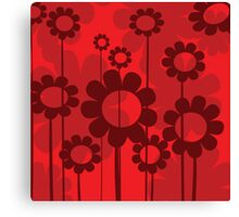Floral background Canvas Print