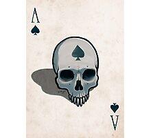 Vampire Skull Ace of Spades Photographic Print