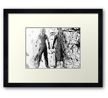 Cloud and Sephiroth Framed Print