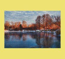 Cold Ice, Warm Light – Lake Ontario Impressions Baby Tee