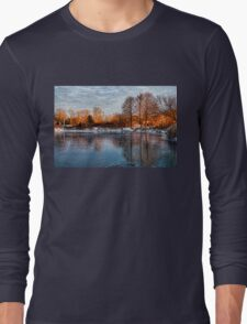 Cold Ice, Warm Light – Lake Ontario Impressions Long Sleeve T-Shirt