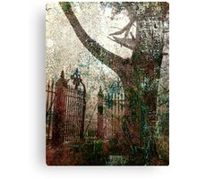 tree and gate Canvas Print