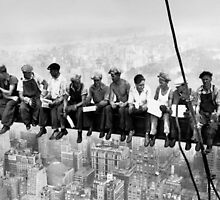Lunchtime atop a skyscraper Charles C. Ebbets by Marghe3891