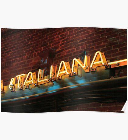 ITALIANA Poster