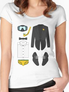A FORMAL PENGUIN AFFAIR Women's Fitted Scoop T-Shirt