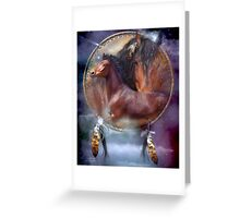 Dream Catcher - Spirit Horses Greeting Card