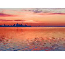 Brilliant Colorful Morning - Toronto Skyline Impressions Photographic Print