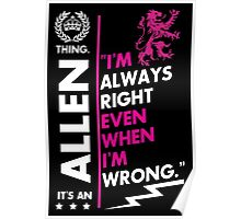 ALLEN THING Poster