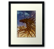 horse in the daily mirror Framed Print