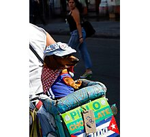 Cool looking Dog with sunhat & glasses Photographic Print