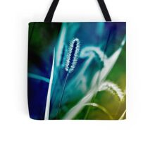 Blue Grass Abstract Tote Bag