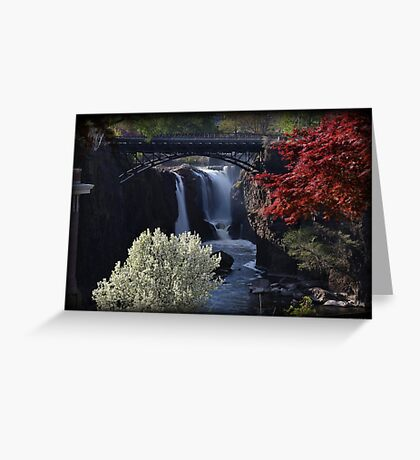 Great Falls Spring Foliage Greeting Card