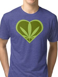 I heart weed! Tri-blend T-Shirt