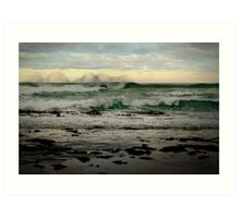 Wispy Surf,Great Ocean Road Art Print