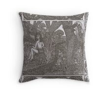 Hern and the Water-spirits (preview) Throw Pillow