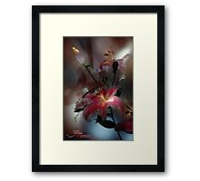 Lily, Flashlight and Bulb Framed Print