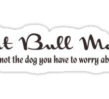 Pit Bull Mom (Light) Sticker