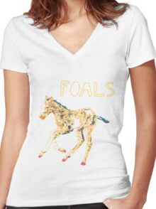 Run, Foal, Run Women's Fitted V-Neck T-Shirt