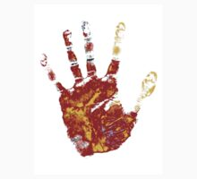 hand print design  by Richard Laschon