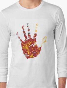 hand print design  Long Sleeve T-Shirt